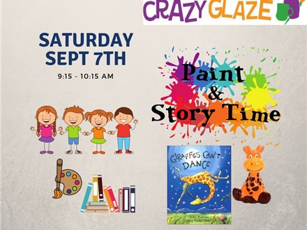 Ticket for Story Time-Sept 7th-Giraffes Can't Dance
