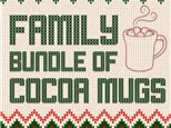 """"""" Family Bundle of Cocoa Mugs"""" To-Go kit- at Color Me Mine - Aspen"""