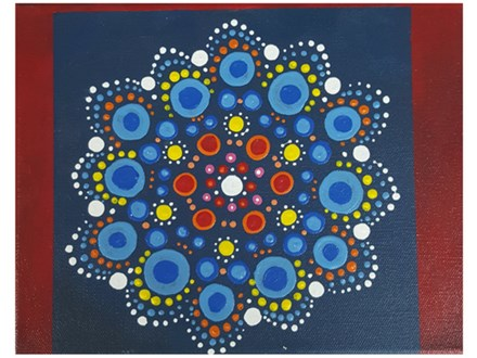 Adult Class Mandala Canvas Painting 09/05