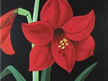 """"""" Amaryllis""""  Canvas painting Night ( Thurs, Nov 7 from 6-9pm) at Color Me Mine - Aspen"""