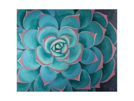 Adult Canvas Class - Succulent - Morning Session - 05.12.16