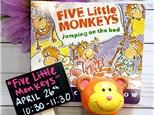 """""""Five Little Monkeys""""  Pre-K Story Time"""