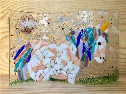 Fused Glass - Wavy Unicorn - Morning Session - 08.24.17