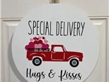 Door Hanger - Delivering Hugs & Kisses