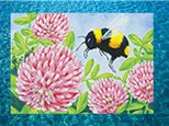 Kids Canvas - Bee and Clover- Friday, February 22