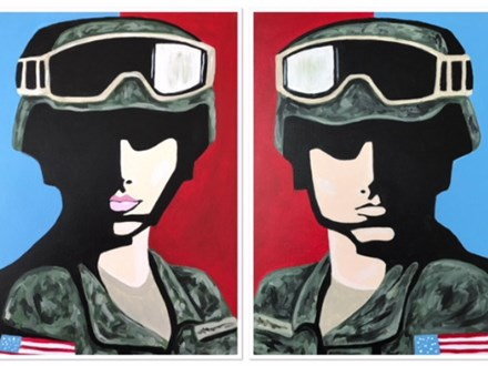 Soldier Choice - class for couples and singles. Skin color options available (12x16 canvas)