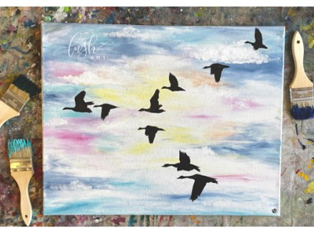 Geese Paint Class - WR