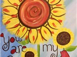 You are My Sunshine Canvas at Niche Wine Lounge Apr 29th
