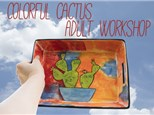 Adult Class: Cool Colorful Cactus - September 7 @ 6pm