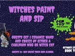 SOLD OUT!!!! - Witches Paint & Sip