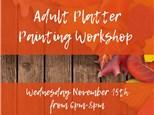 Adult Platter Painting Workshop at Color Me Mine - Henderson, NV 11/15/18