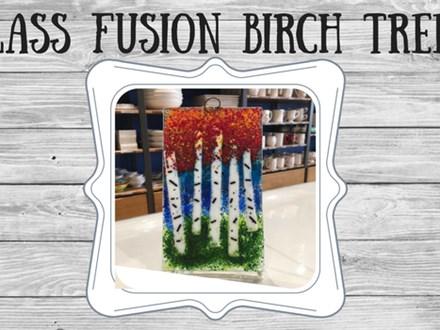 Glass Fusion - Birch Trees
