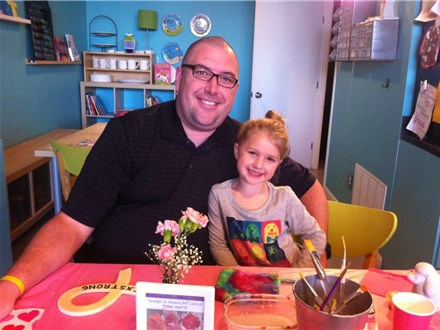 Daddy Daughter Date Night at The Art Garage