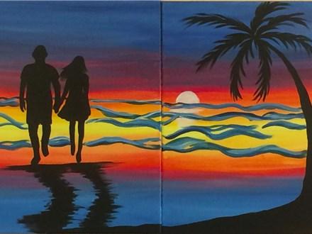 Couples Canvas Class - Sunset Walk - 05.27.17