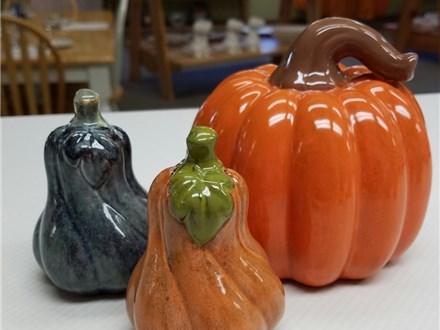 Pottery Glaze Pumpkins at The Pottery Bug