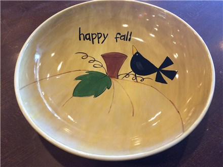 """Happy Fall"" Pottery Painting Night, November 13th 7-9pm"