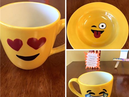 "1 Day Mini-Camp ""Emoji Pottery Painting"" 11-1:30pm"