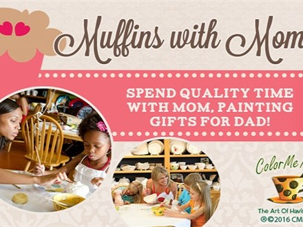 Muffins with Mom - Painting Gifts for Fathers Day!