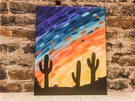 August 23 Cactus Canvas Class
