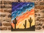 July 23 Cactus Canvas Class