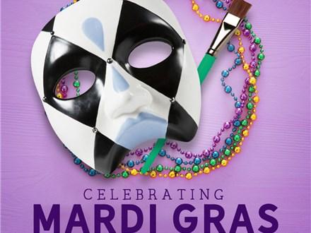 Feb 25th • Mardi Gras Mask Workshop • Color Me Mine Aurora