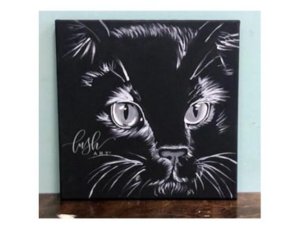 Black & White Cat Paint Class