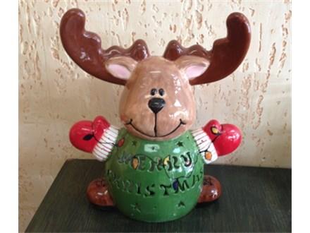 Custom Name Carved Reindeer