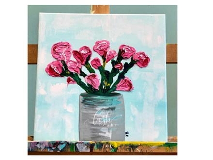 Textured Tulips Paint Class