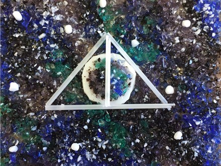 Kid's Fused Glass - Deathly Hallows Night Light - Afternoon - 09.19.18