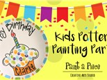 Kids Pottery Painting Party---click photos for pricing