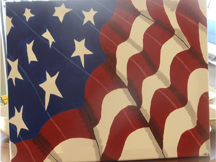 American Flag Canvas Paint & Sip, August 4, 2017 at 6 pm