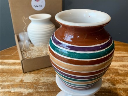 PoGo Kits: Paint Your Own Pottery ToGo! (Hand Thrown Vase)