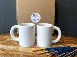 PoGo Kits: Paint Your Own Pottery ToGo! (2 Regular Joe Mugs)