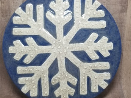 Snowflake Dessert Plate - Ready to Paint