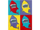POP Art Shark!  (Ages 6+) Parents are encouraged to stay with children between the ages of 6-8.