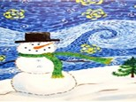 Starry Snowman Canvas and Cocktails