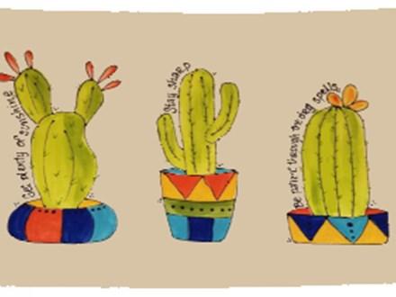 Be Like A Cactus Platter - Virtual Class