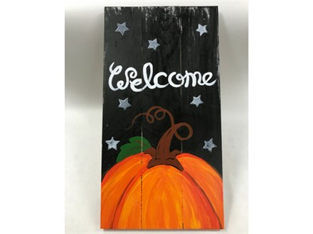 Adult Class Welcome Pumpkin Wood Painting 11/14