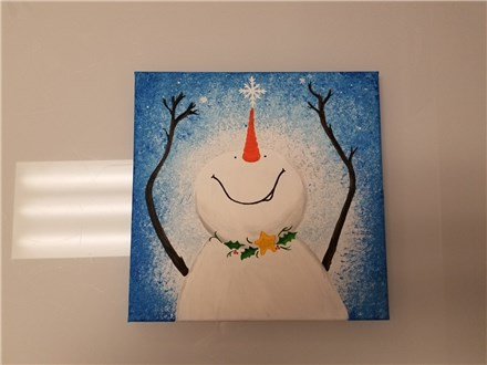 Catching Snowflakes Kids Canvas Class (age 6 and up) $25