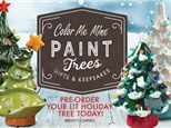 Christmas Tree Painting Party at CMM!