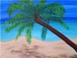 Canvas & Wine Night!  Palm Tree Beach!  6/2/16