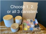 PoGo Kits: Paint Your Own Pottery toGo! (Canister(s) with Lid)