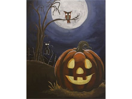 "Canvas & Coffee ""Halloween Hill"""