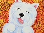 Kid's Canvas - Leaf Pile Pup - 09.24.19
