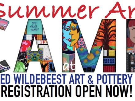 Summer Art Camp Week 5 - HALF DAY 9am - 1pm JULY 10 - 14 at Three Legged Wildebeest Art Studio