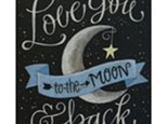 Adult Canvas Night May 22nd - Love You to the Moon