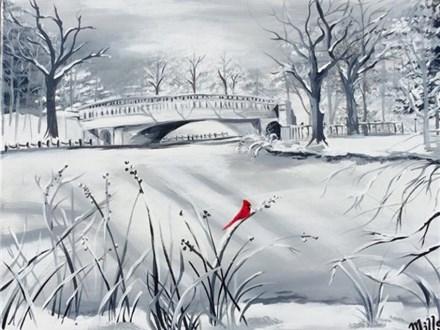 "Canvas Night ""Winter Park"" Friday, December 9th 7-10pm"