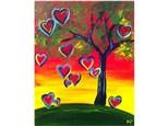 Paint & Sip - Love Tree - Jan. 26 - 7:30 PM