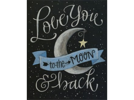 "Canvas & Coffee ""Love You to the Moon"""