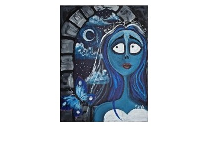 Corpse Bride - Canvas - Paint and Sip